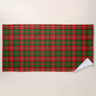 Scottish Accents Clan Nisbet Tartan Beach Towel