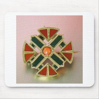 Scottish Agate Gold Jasper Pin Mouse Pad