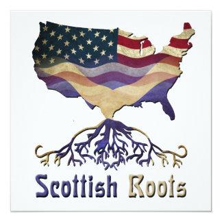 """Scottish American Ancestry Invitations 5.25"""" Square Invitation Card"""