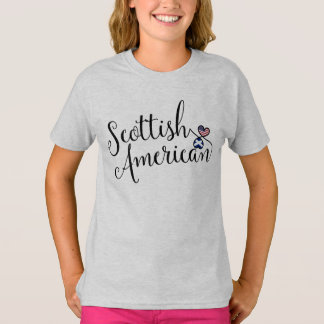 Scottish American Entwinted Hearts T-Shirt