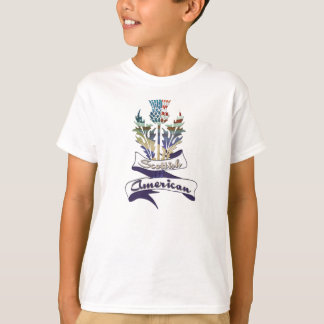 Scottish American Flags Children's T-Shirts