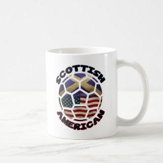 Scottish American Soccer Ball Classic White Coffee Mug