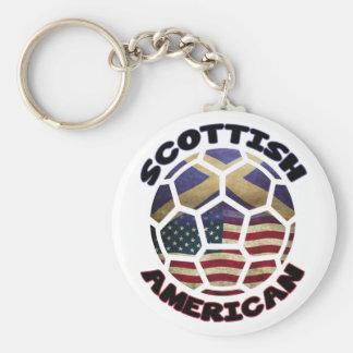 Scottish American Soccer Ball Keychain