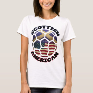 Scottish American Soccer Ball T-Shirt