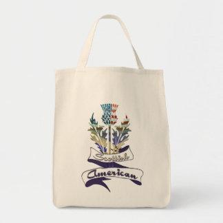 Scottish American Thistle Tote Bag