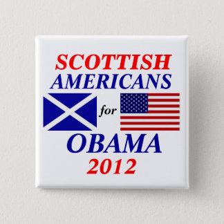 Scottish americans for Obama Pinback Button