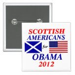 Scottish americans for Obama Pinback Buttons