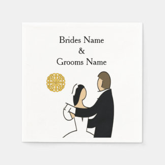 Scottish and Celtic Couple Wedding Theme Napkin