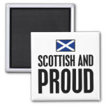 Scottish and Proud 2 Inch Square Magnet