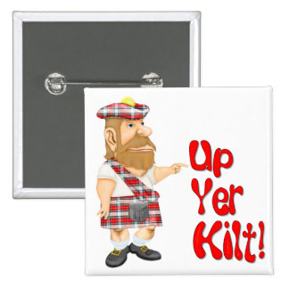 Scottish Attitude Pinback Button