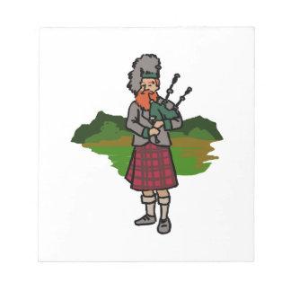 Scottish Bagpiper Notepad