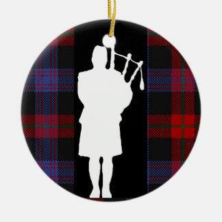 Scottish Bagpiper Christmas Ornaments
