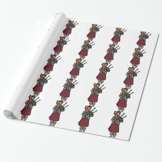 Scottish Bagpiper Wrapping Paper