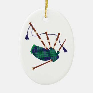Scottish Bagpipes Ceramic Ornament