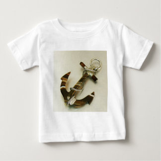 Scottish Banded Agate Anchor Baby T-Shirt