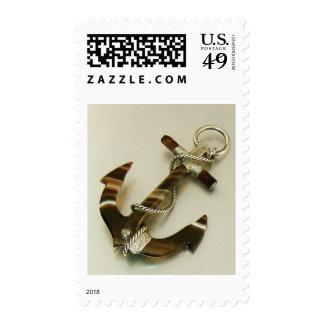 Scottish Banded Agate Anchor Stamp