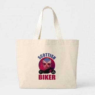 Scottish Biker Skull Chop Canvas Bag