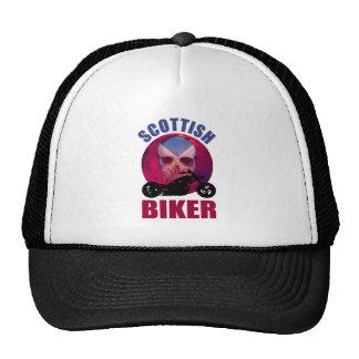 Scottish Biker Skull Chop Trucker Hat