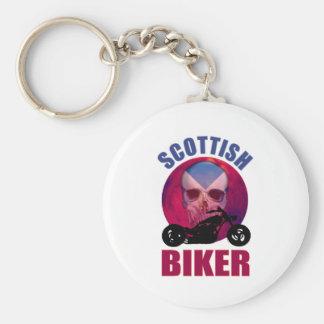 Scottish Biker Skull Chop Key Chain