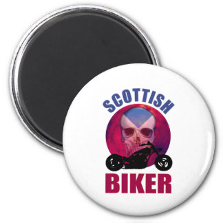 Scottish Biker Skull Chop Magnet