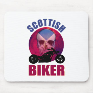 Scottish Biker Skull Chop Mouse Pad