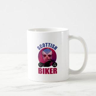 Scottish Biker Skull Chop Mug