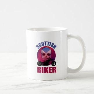 Scottish Biker Skull Chop Coffee Mugs