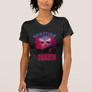 Scottish Biker Skull Chop Shirts