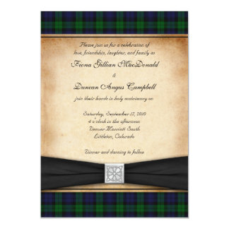 Scottish Black Watch Tartan Wedding Invitation