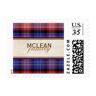 Scottish Blue Clan Plaid Tartan Postage