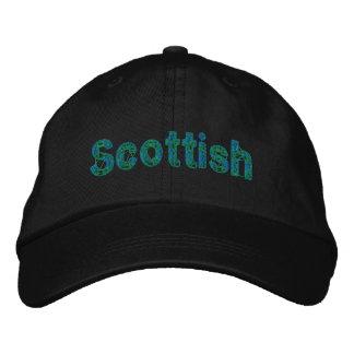 Scottish Blue Green Tartan Cap