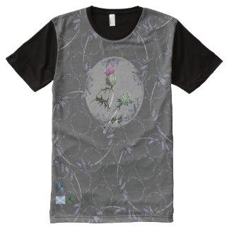 Scottish Bluebell Thistle Art T-Shirt All-Over Print T-shirt