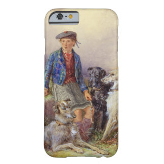 Scottish boy with wolfhounds in a Highland landsca Barely There iPhone 6 Case