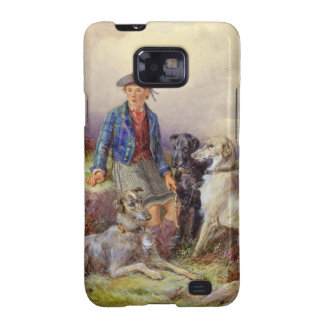 Scottish boy with wolfhounds in a Highland landsca Samsung Galaxy S2 Case
