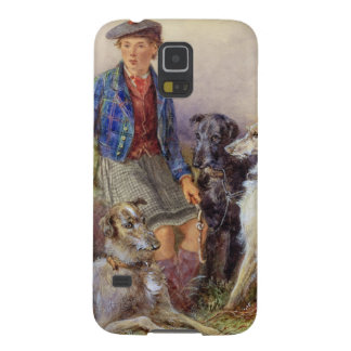 Scottish boy with wolfhounds in a Highland landsca Galaxy S5 Covers