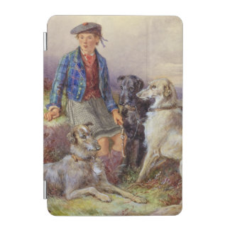 Scottish boy with wolfhounds in a Highland landsca iPad Mini Cover
