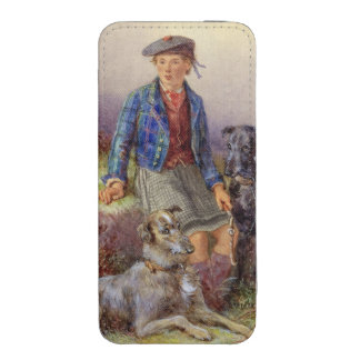 Scottish boy with wolfhounds in a Highland landsca iPhone SE/5/5s/5c Pouch