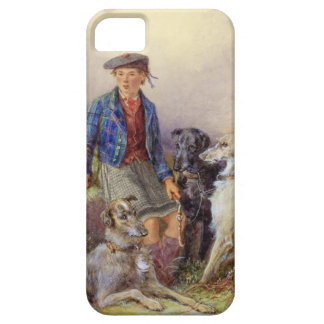 Scottish boy with wolfhounds in a Highland landsca iPhone SE/5/5s Case