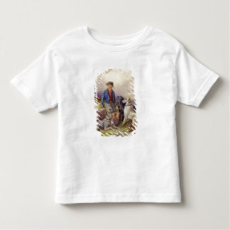 Scottish boy with wolfhounds in a Highland landsca Tee Shirt