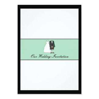 Scottish Bride and Groom Wedding Invitation -green
