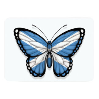 "Scottish Butterfly Flag 5"" X 7"" Invitation Card"