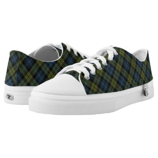 Scottish Campbell Tartan Low-Top Sneakers