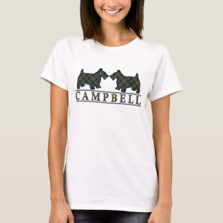 Scottish Campbell Tartan Scottie Dogs T-Shirt