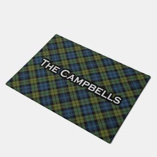 Scottish Campbell Tartan Welcome Mat Doormat