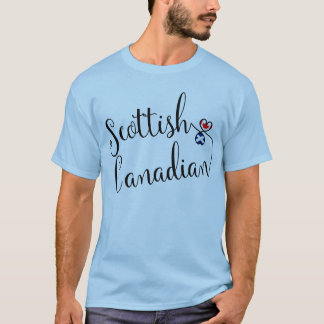Scottish Canadian Entwinted Hearts Tee Shirt