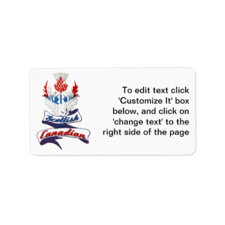Scottish Canadian Thistle Label