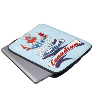 Scottish Canadian Thistle Laptop Cover