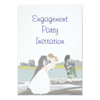 Scottish, Celtic Engagement Party Card