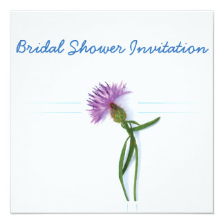 Scottish, Celtic Wedding Thistle Theme Bridal Show Card