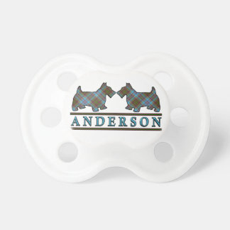 Scottish Clan Anderson Scottie Dogs Tartan Pacifier